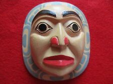 NORTHWEST COAST CEREMONIAL MASK .... HAND CARVED & PAINTED MASK, #WY-00343