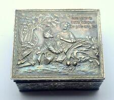 ANTIQUE SILVER PLATED JEWELRY BOX BAROQUE ART BEATA MARGARETA SODERBAUM 1942
