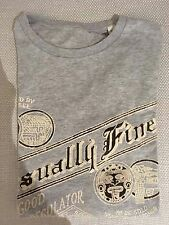 SALE! Gift for him: Official Diesel Retro Long Sleeve T-Shirt Medium, Grey, Ski