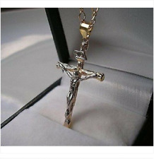 9CT GOLD GF CROSS CRUCIFIX ON CHAIN from 9ct-gold-bling 90