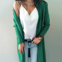 Women's Long Sleeve Knit Open Front Cardigan Top Jackets Coat Sweater Tops Coats