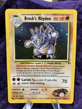 New listing Brock's Rhydon - Holo Rare - Vintage WotC 2/132 Gym Heroes Pokemon Card