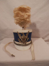 Vintage 1950's Ostwald Feathered Marching Band Hat 7 1/8  Majorette