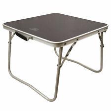 Highlander Small Folding Camping Table Metal Outdoor Garden Picnic Beach Grey
