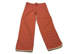 Kinross Cashmere Womens Cashmere Drawstring Wide Leg Pants Size S Pink