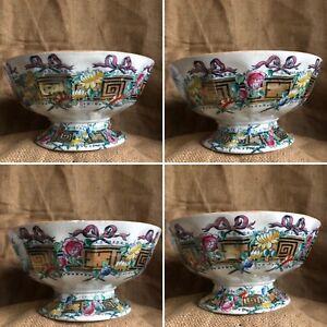 Cork Edge Malkin CE&M Athens Pattern Antique Footed Serving Bowl Cottage Core