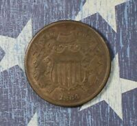 1864 2 CENT PIECE COLLECTOR COIN FOR YOUR COLLECTION OR SET. Free S/H