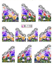 Nail Art Water Decals Stickers Transfers Multicolour French Tip (B110)