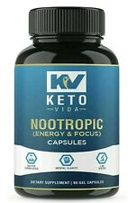 KETO VIDA Alpha Brain Support Nootropic Capsules for Focus and Energy