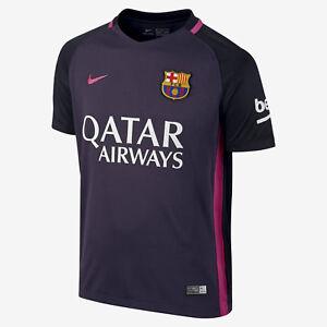 Barcelona 2016-17 boys stadium away shirt by Nike - XL (age 13-15, 158-170cm)
