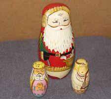 Nesting Dolls  3 Different Sets Santa, Magi 3 Wise Men, Angels Authentic Models