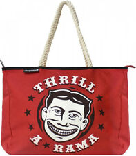 "78062 Red 16"" Thrill A Rama Rope Tote Bag Purse Sourpuss Carnival Retro Circus"