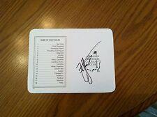ZACH JOHNSON hand signed Augusta National Masters scorecard PGA golf Auto