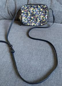 LK Bennett Ladies Bag Mariel Navy Ditsy Floral Crossbody Messenger Everyday New