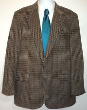 Southbridge Clothiers Mens 44L Camel Hair Wool Blend Houndstooth Sport Coat Tan