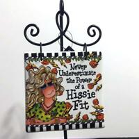Suzy Toronto Feel The Tingle 4045332 HISSY FIT Stoneware Hanging Wall Plaque