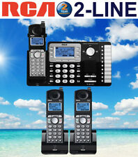 RCA 25252 DECT 6.0 2-LINE 3 CORDLESS PHONES WITH 2-LINE ANSWERING MACHINE NEW
