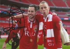 BRISTOL CITY: GREG CUNNINGHAM SIGNED 6x4 JOHNSTONE'S PAINT CELEBRATION PHOTO+COA