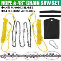 48'' Handkettensäge mit Seil und Beutel Außen Handsäge Astsäge Zugsäge