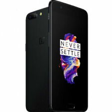 OnePlus 5T - 64GB - Midnight Black (Unlocked) Smartphone Grade C