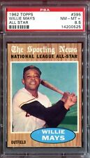 1962 Topps #395 *WILLIE MAYS AS*  PSA 8.5! pop = 7! 35x rarer vs PSA 8! sharp!