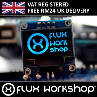 "0.96"" 128x64 Blue OLED Display Module Arduino I2C Monitor Flux Workshop"