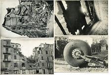 BOMBARDAMENTO DI SAVONA WWII 1943 FOTO VINTAGE ANIMATE LOTTO DI 4 FASCISMO