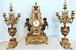 BREVETTATO IMPERIAL CLOCK AND CANDELABRA SET