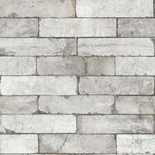 Rasch Tapete Factory 3 III 446302 Steinmauer Stein grau beige Vliestapete Vlies