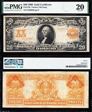 NICE Bold VF SCARCE Fr. 1182 Vernon-McClung 1906 $20 *GOLD CERTIFICATE*! PMG 20!