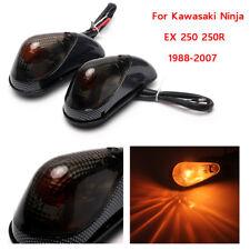 Smoke Rear Turn Signals Light Fit For Kawasaki Ninja EX 250 250R 1988-2007 NEW