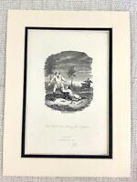 1885 Antique Print George Cruikshank Illustration Dick Dafter Jack Eagleton Art
