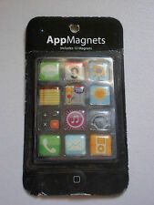 SET OF 12 BEST BRANDS APPMAGNETS MAGNET REFRIGERATOR MAGNETIC APPS COOL 13/16""