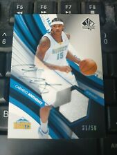2004-05 sp authentic Autographed Fabrics Carmelo Anthony /50 NUGGETS LAKERS HOF