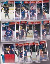 1983 - 84 OPC Team SET Lot of 19 Winnipeg JETS NM+ o-pee-chee HAWERCHUK BABYCH