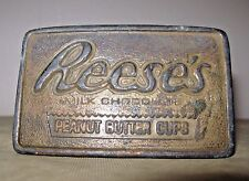 1970 Reese's Peanut Butter Cup Indiana Metal Craft Belt Buckle
