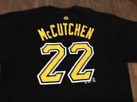 Andrew McCutchen 22 Pittsburgh Pirates Black XL T Shirt MLB Majestic