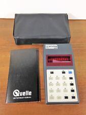 Vintage german calculator Privileg 802 8-digit red display
