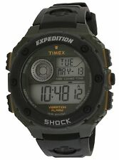 Timex T49982 Expedition Shock Men's Oversized Black & Green Resin Digital Watch