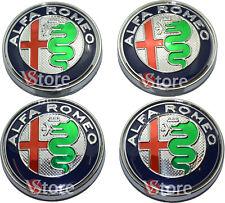 4 Tappi Coprimozzo ALFA ROMEO Giulietta 159 146 157 Brera Fregi CERCHI 60mm