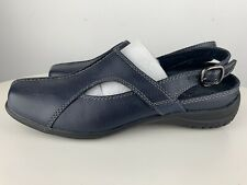 New Easy Street Navy Womens Shoes Mule Style Size 7 1/2 M Casual Comfort Wave