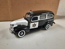 Franklin Mint-Precison Models Police/1946 Chevy Suburban Sheriff's Wagon Pre-own