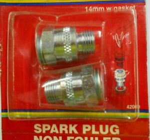 Dorman Help 42000 Universal 14mm Spark Plug Non-Fouler(s) w/ Gaskets - Pack of 2