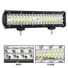 LED 12 INCH 400W Work Light Bar Flood & Spot Lamp Offroad Truck Car ATV UTV Bike