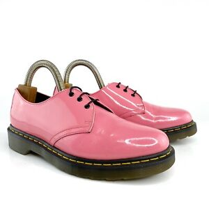 Dr Martens Women 10084 Hot Pink Patent Leather Oxford Shoes Size US 9