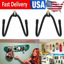 2/PK Metal Skateboard Mounts Deck Wall Hanging Brackets /Skateboard Holder Stand