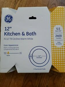 "GE Kitchen & Bath 32, Circline 11085 Fluorescent T9 Bulb 12"" 32 Watt Warm White"