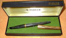 """PARKER  """" 45 """" CUSTOM ; GRAY MARBELED ; CARTRIDGEFILLER 14 Kt.NIB , ORIGINALBOX"""