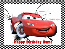 LIGHTNING McQUEEN Edible Icing Image Birthday Cake Topper Party Decoration #3