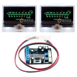 2x TN-90A VU Meter DB Level Header Chassis Backlight w/ 1x TA7318P Driver Board